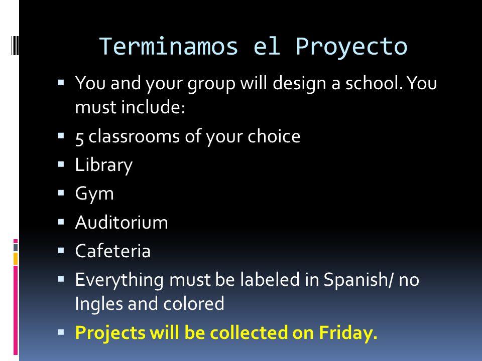 Terminamos el Proyecto