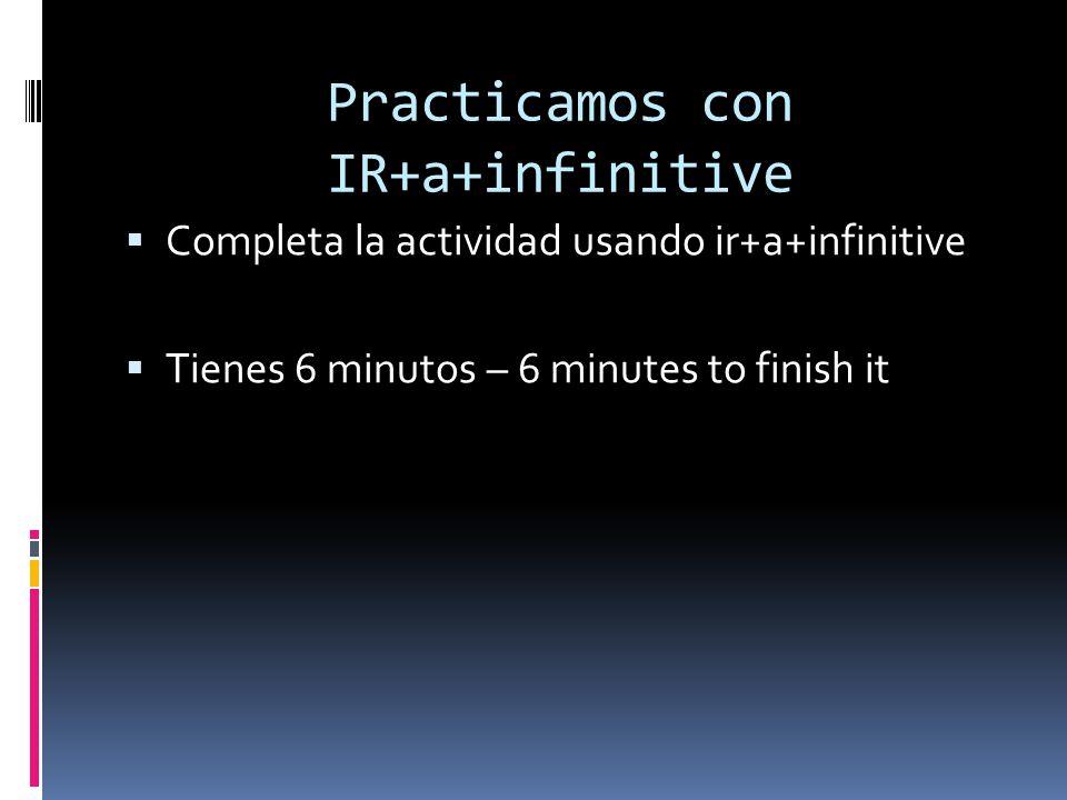 Practicamos con IR+a+infinitive