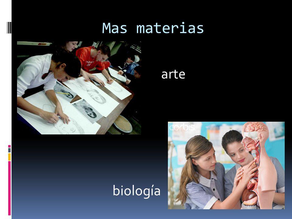 Mas materias arte biología