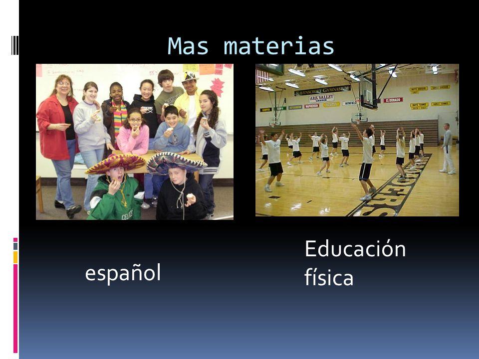 Mas materias Educación física español
