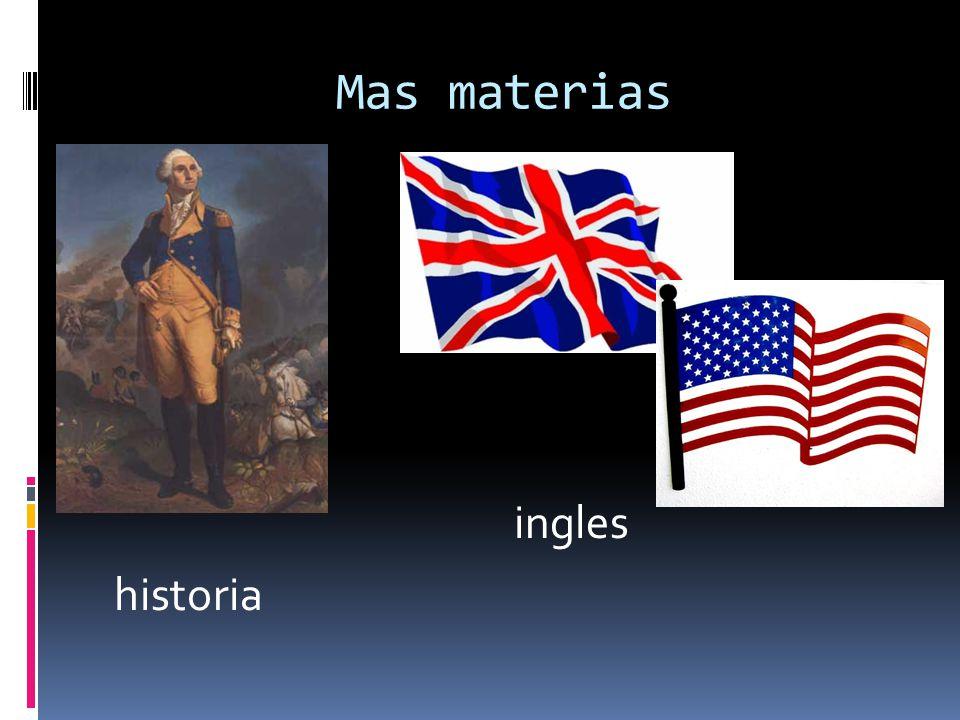 Mas materias ingles historia