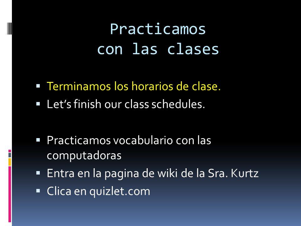 Practicamos con las clases