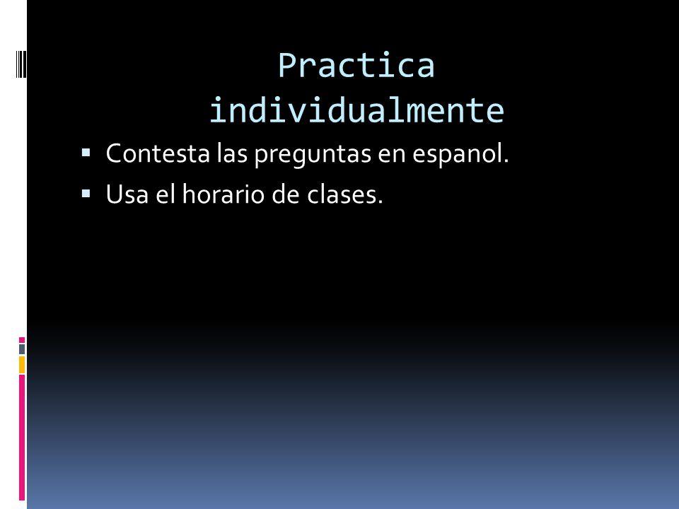 Practica individualmente