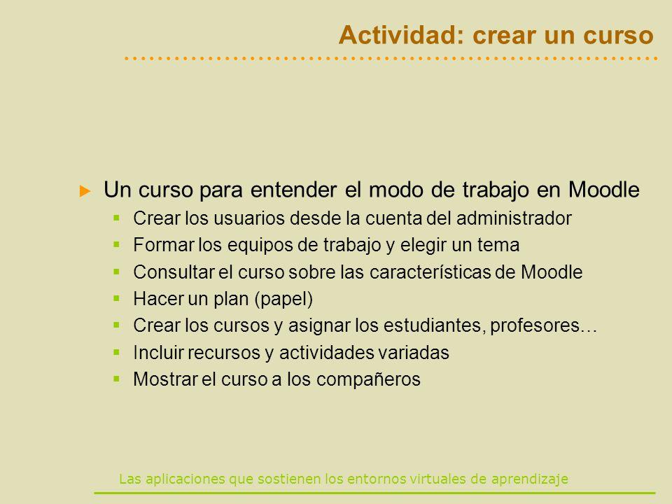 Actividad: crear un curso