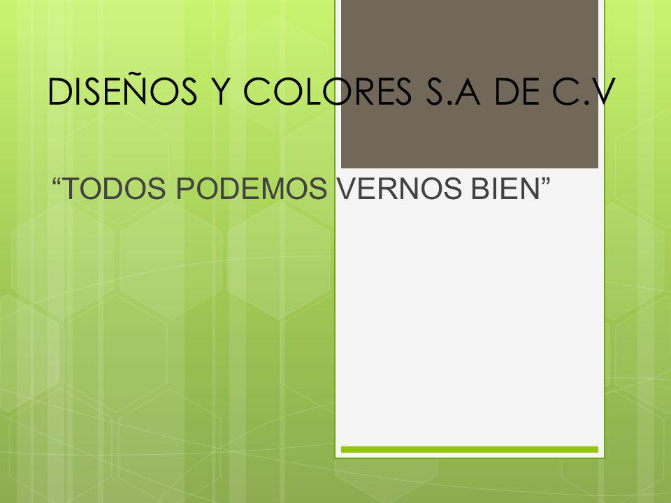 DISEÑOS Y COLORES S.A DE C.V