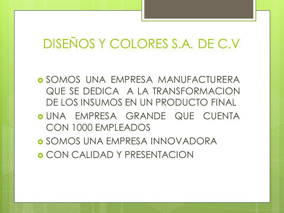 DISEÑOS Y COLORES S.A. DE C.V