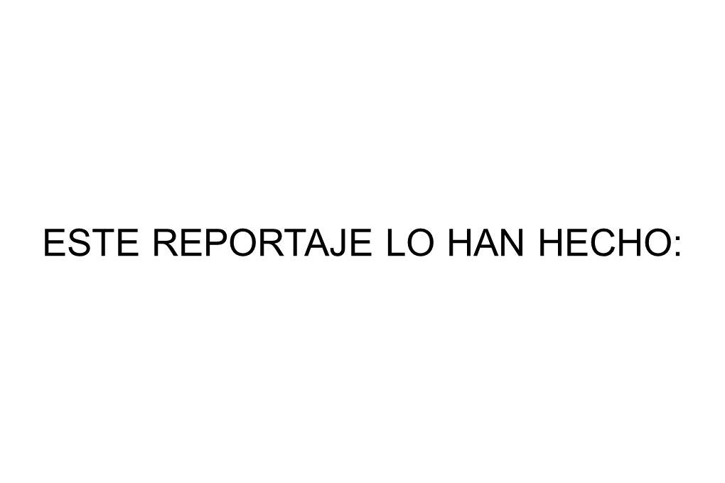 ESTE REPORTAJE LO HAN HECHO:
