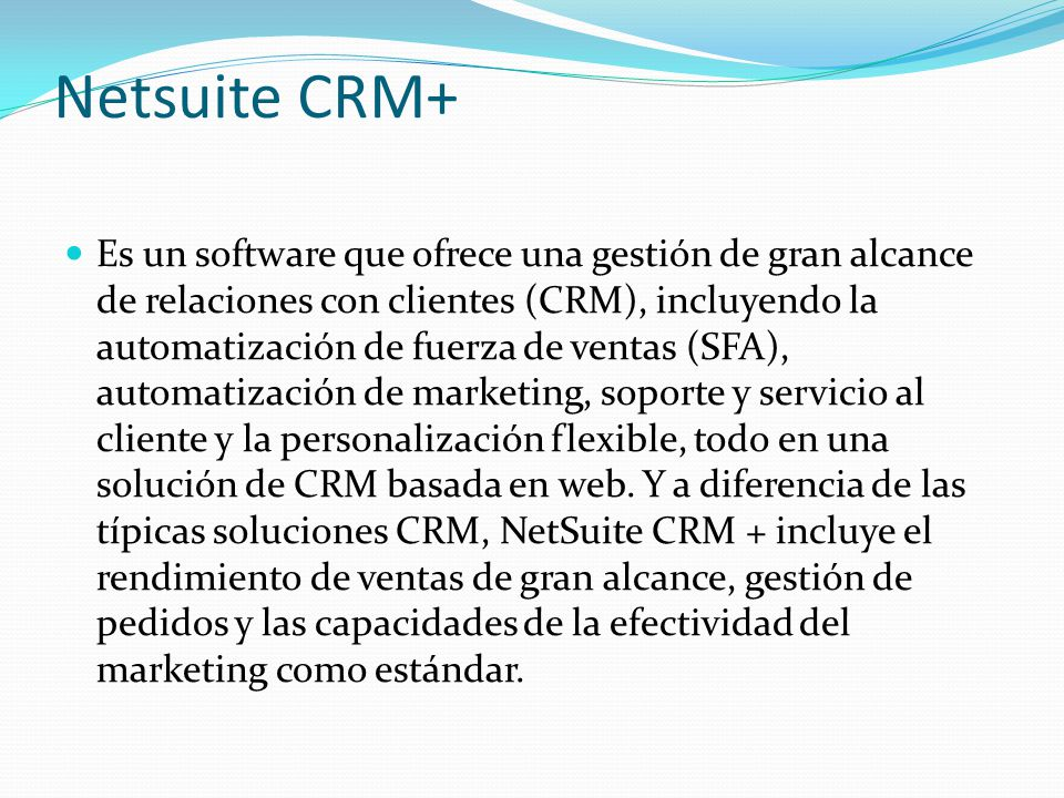 Netsuite CRM+