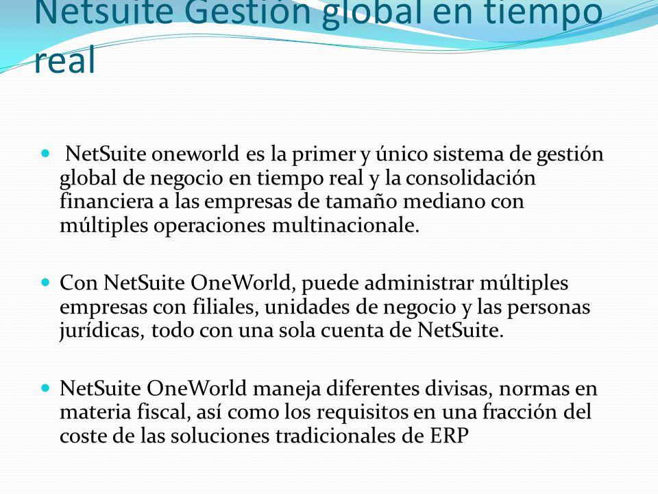 Netsuite Gestión global en tiempo real