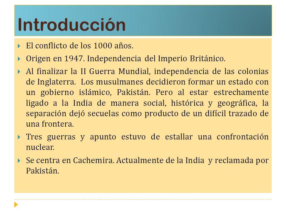 Introducción El conflicto de los 1000 años.