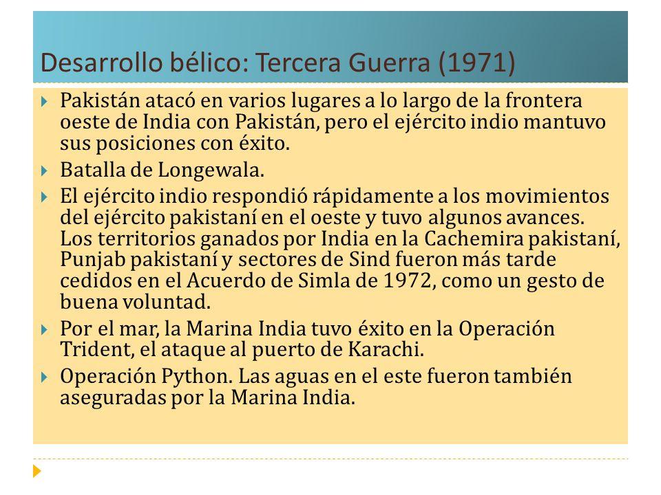 Desarrollo bélico: Tercera Guerra (1971)