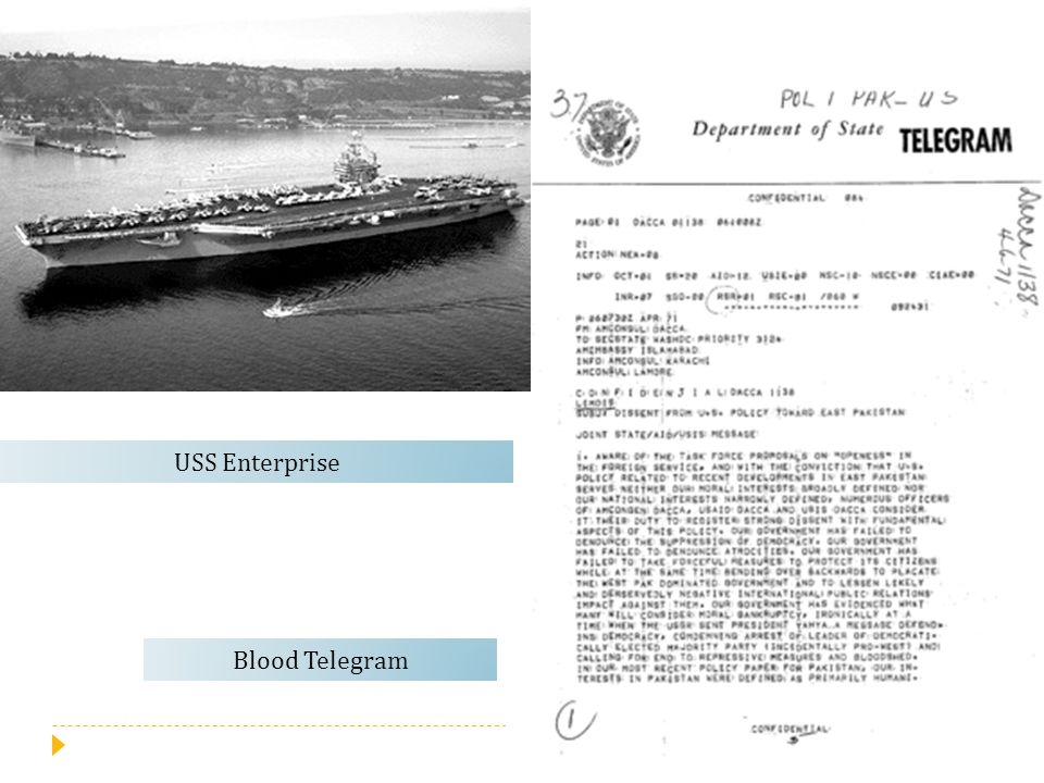 USS Enterprise Blood Telegram