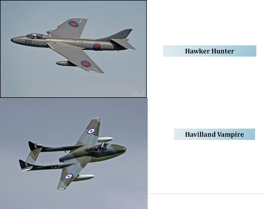Hawker Hunter Havilland Vampire