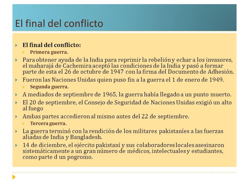 El final del conflicto El final del conflicto: