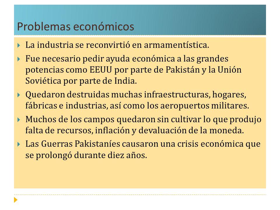 Problemas económicos La industria se reconvirtió en armamentística.