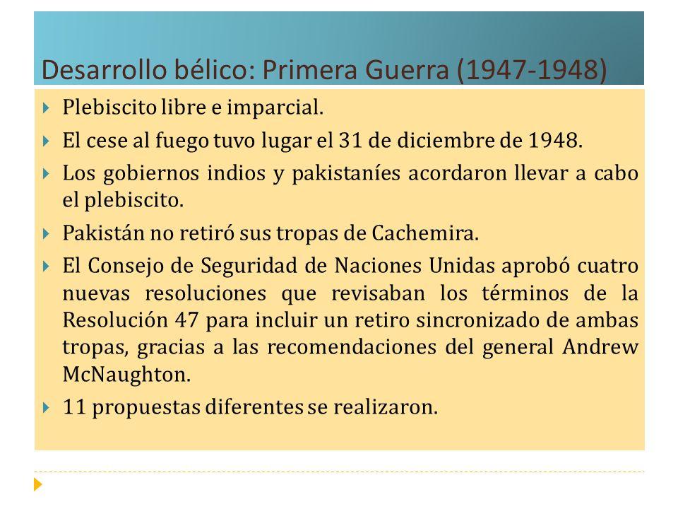 Desarrollo bélico: Primera Guerra (1947-1948)