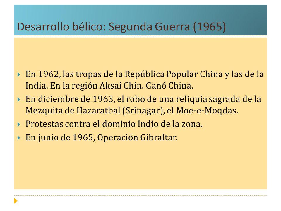 Desarrollo bélico: Segunda Guerra (1965)