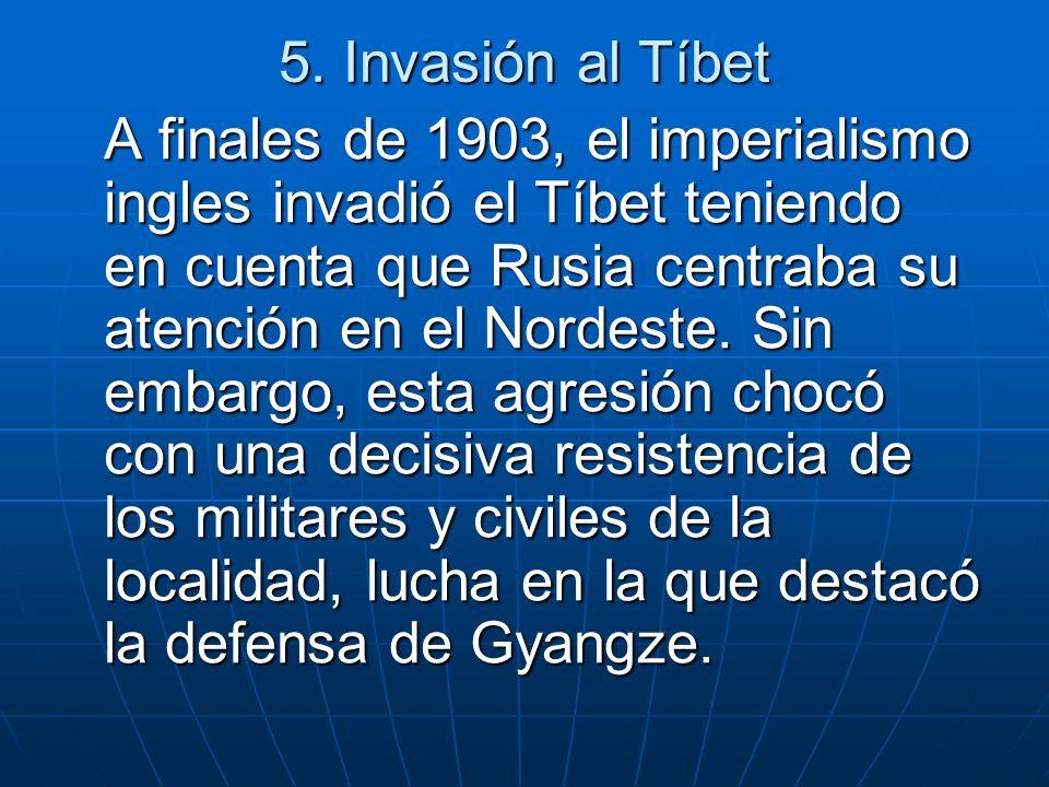 5. Invasión al Tíbet
