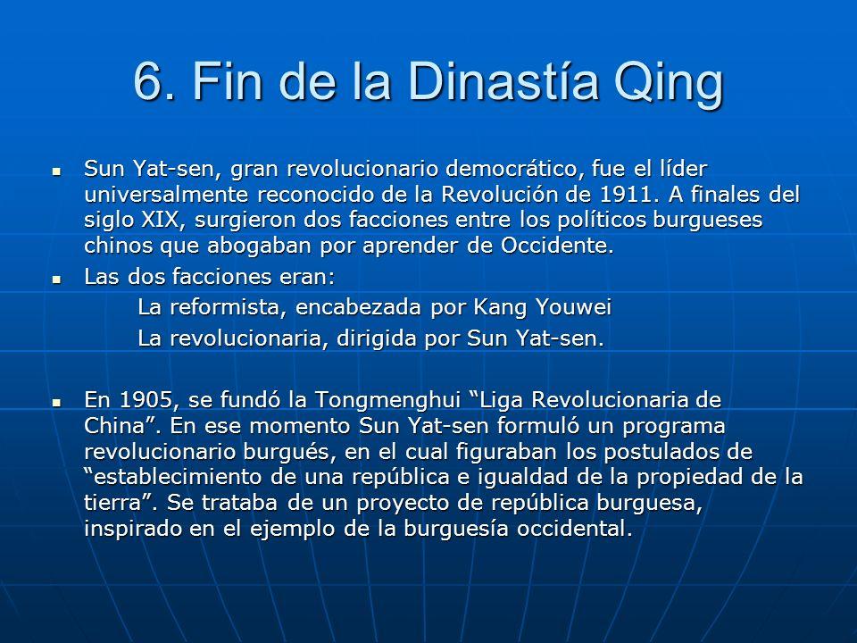 6. Fin de la Dinastía Qing