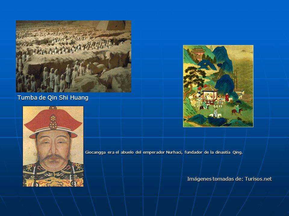 Tumba de Qin Shi Huang. Giocangga era el abuelo del emperador Nurhaci, fundador de la dinastía Qing.