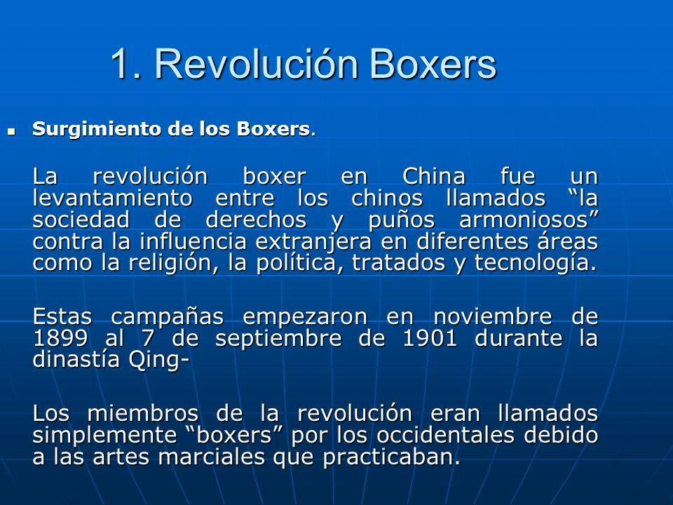 1. Revolución Boxers Surgimiento de los Boxers.