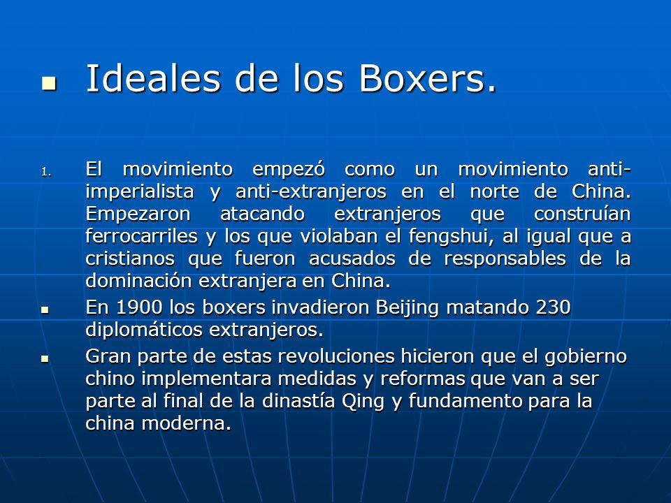 Ideales de los Boxers.