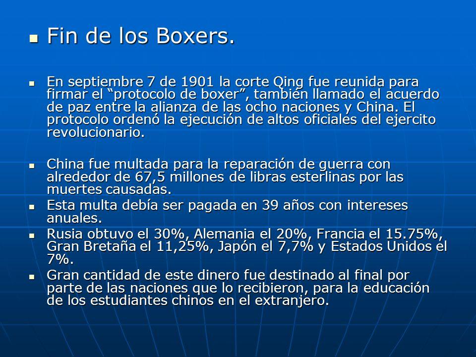 Fin de los Boxers.