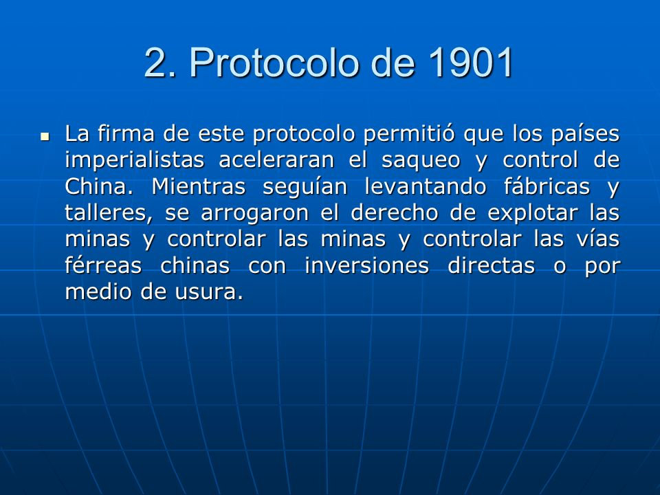 2. Protocolo de 1901