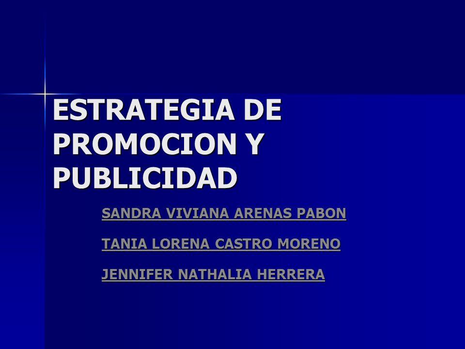 ESTRATEGIA DE PROMOCION Y PUBLICIDAD