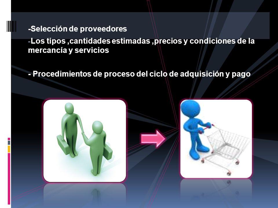 -Selección de proveedores