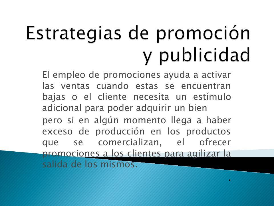 Estrategias de promoción y publicidad