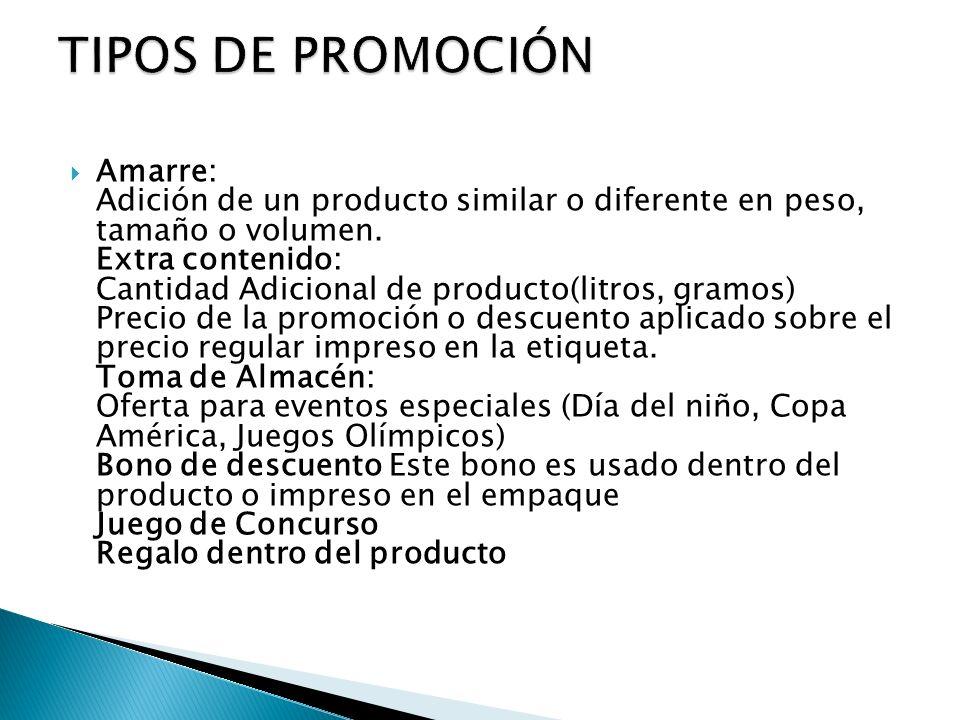 TIPOS DE PROMOCIÓN
