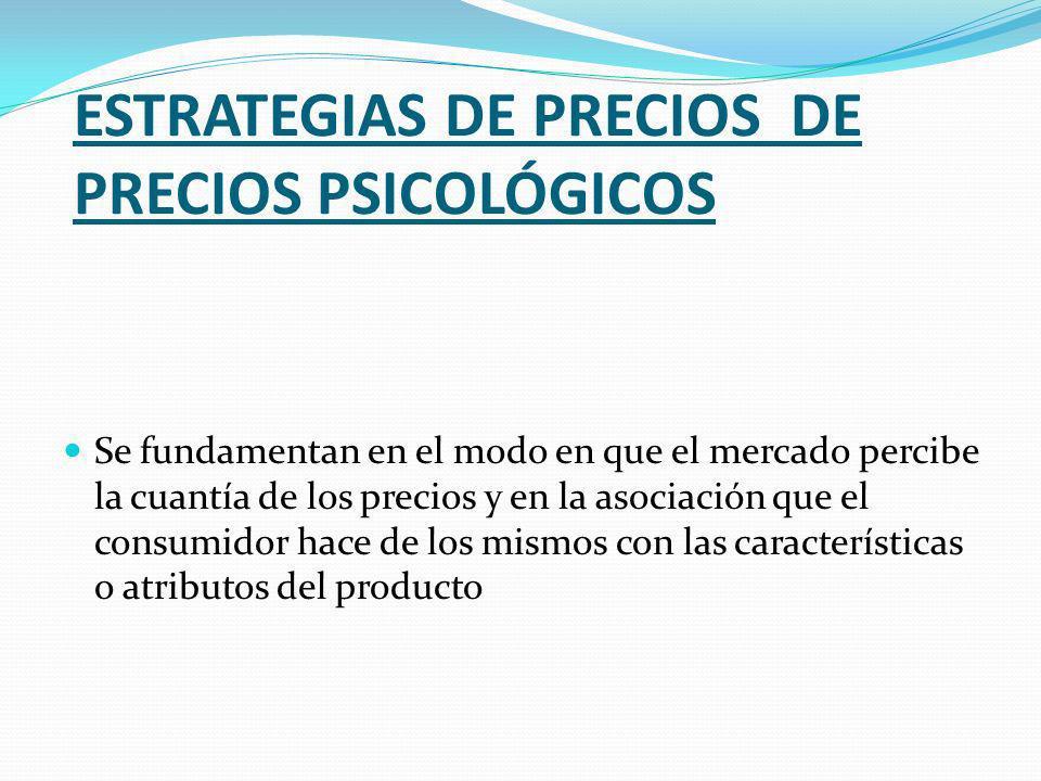 ESTRATEGIAS DE PRECIOS DE PRECIOS PSICOLÓGICOS