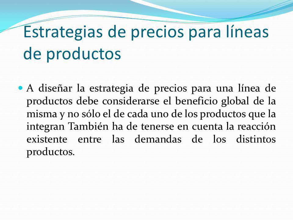 Estrategias de precios para líneas de productos