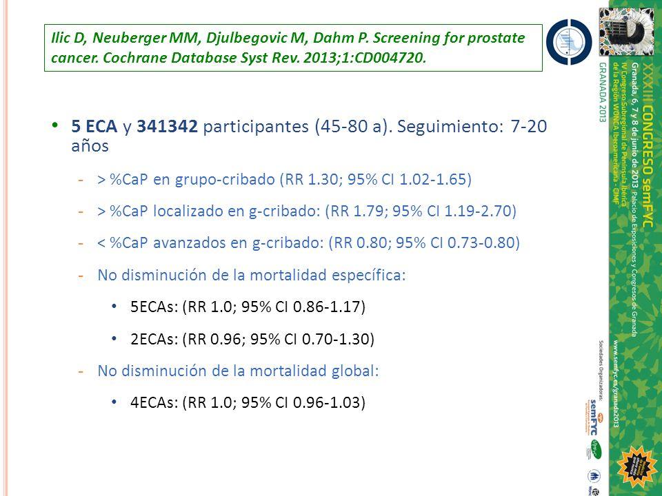 5 ECA y 341342 participantes (45-80 a). Seguimiento: 7-20 años