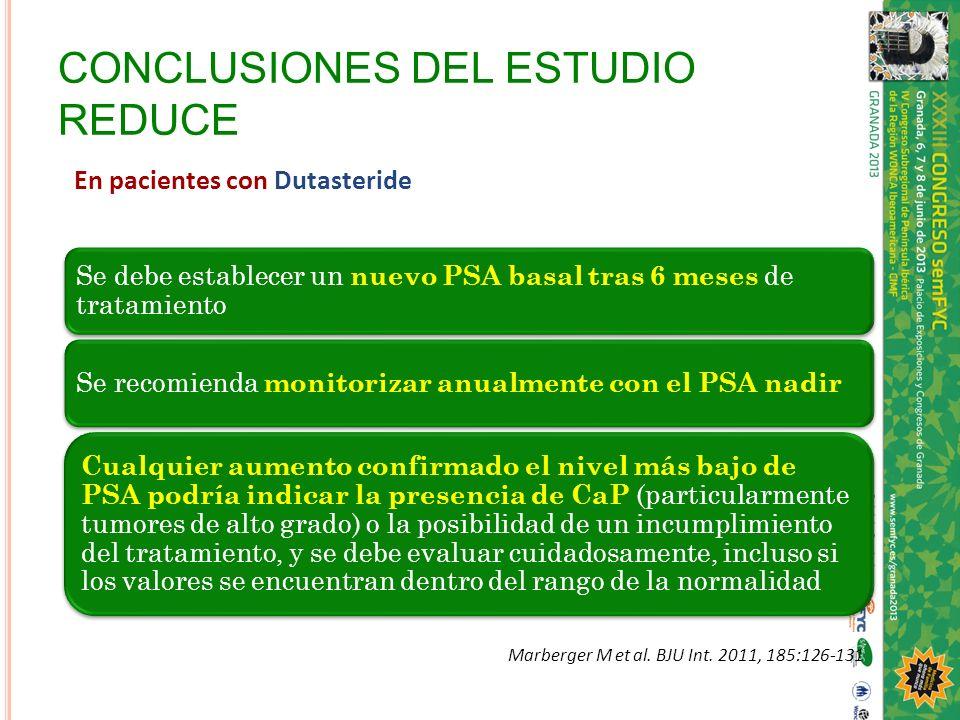 CONCLUSIONES DEL ESTUDIO REDUCE
