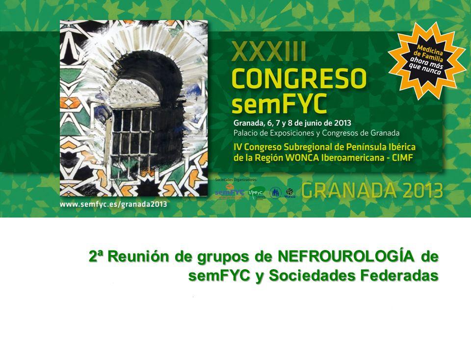 2ª Reunión de grupos de NEFROUROLOGÍA de semFYC y Sociedades Federadas