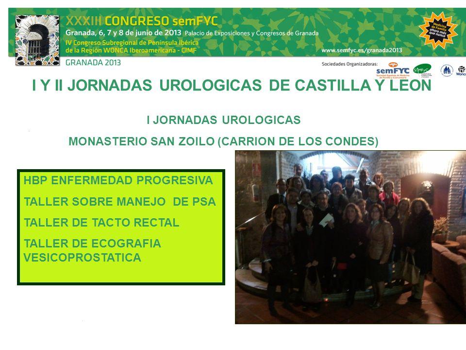 I Y II JORNADAS UROLOGICAS DE CASTILLA Y LEON