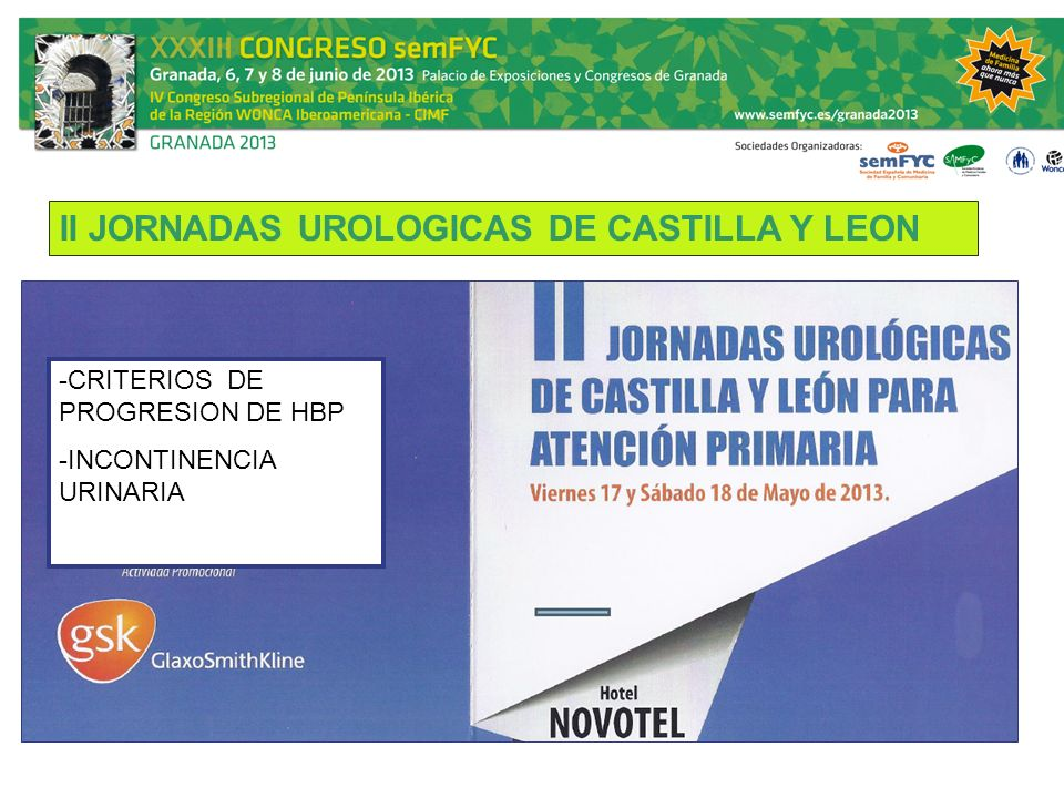 II JORNADAS UROLOGICAS DE CASTILLA Y LEON