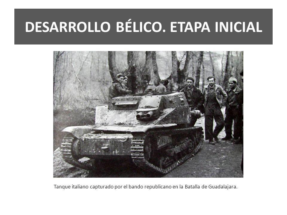 DESARROLLO BÉLICO. ETAPA INICIAL