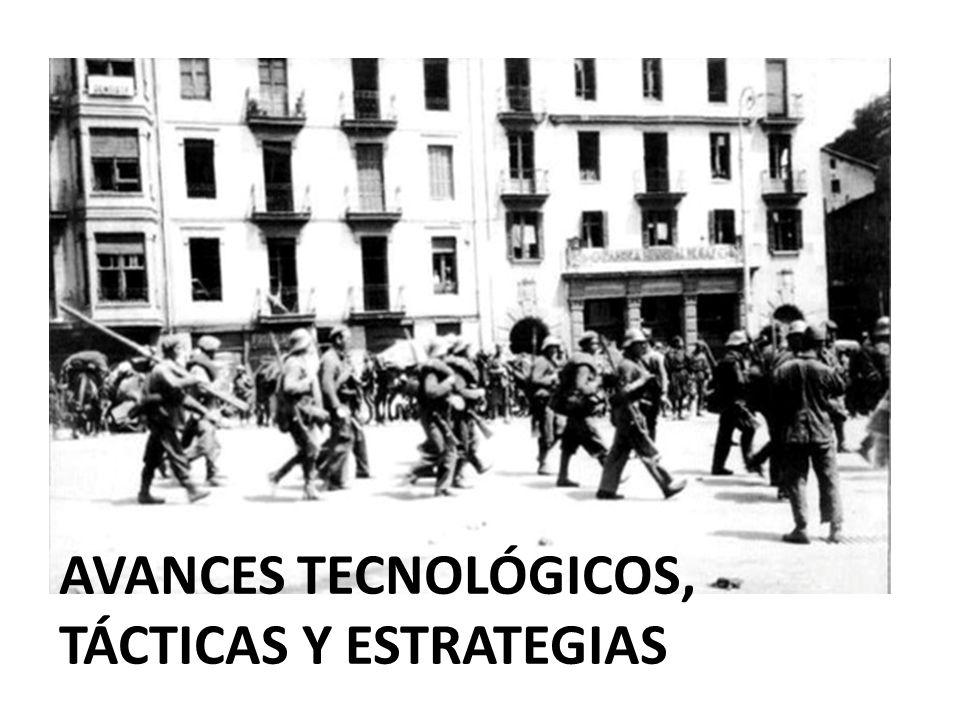 AVANCES TECNOLÓGICOS, TÁCTICAS Y ESTRATEGIAS