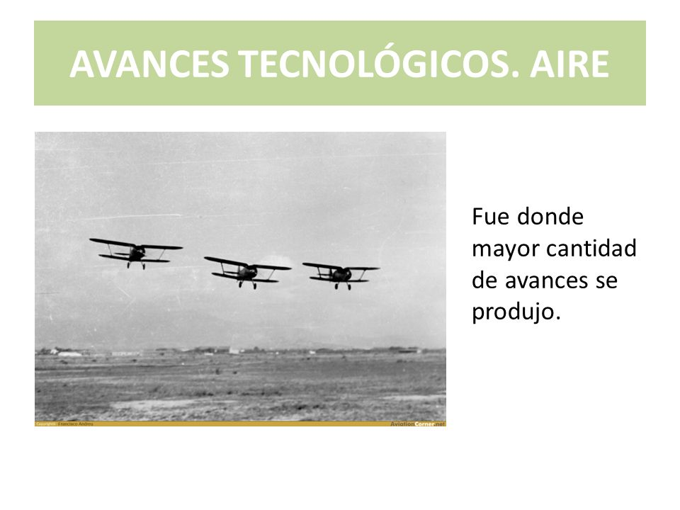 AVANCES TECNOLÓGICOS. AIRE