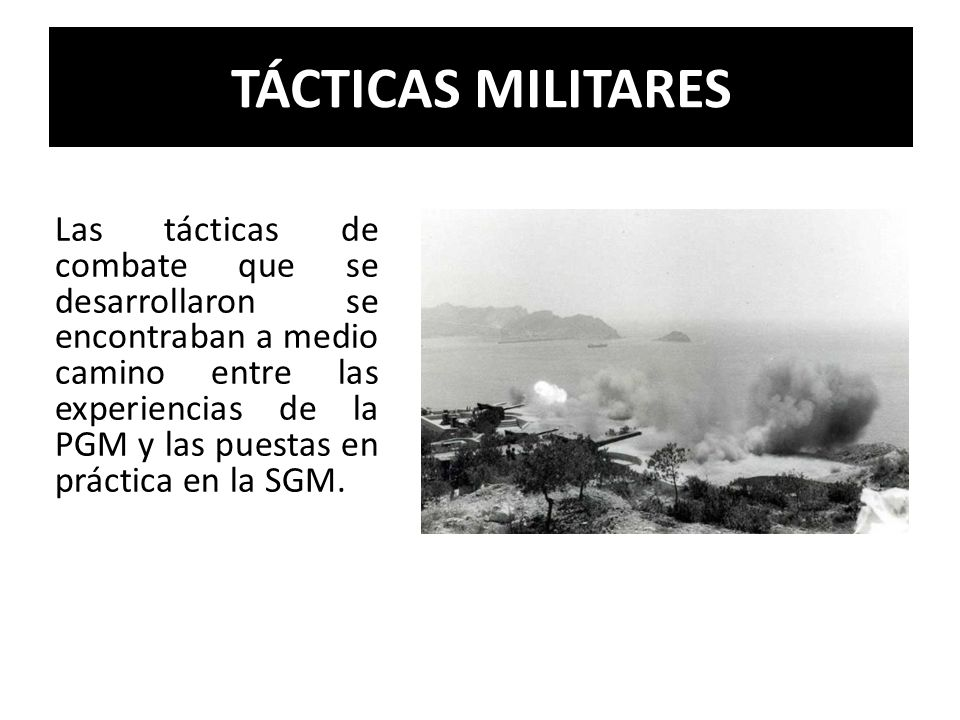 TÁCTICAS MILITARES