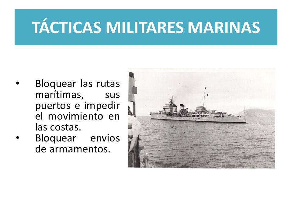 TÁCTICAS MILITARES MARINAS