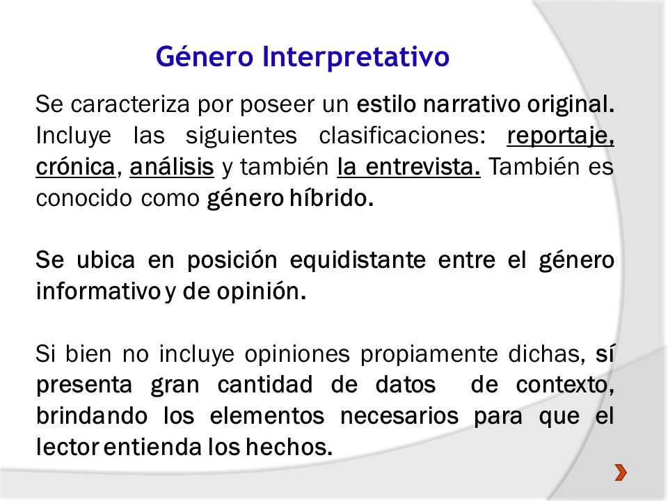 Género Interpretativo