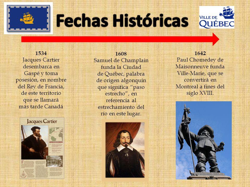 Fechas Históricas 1534 Jacques Cartier desembarca en Gaspé y toma