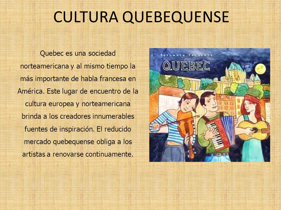 CULTURA QUEBEQUENSE