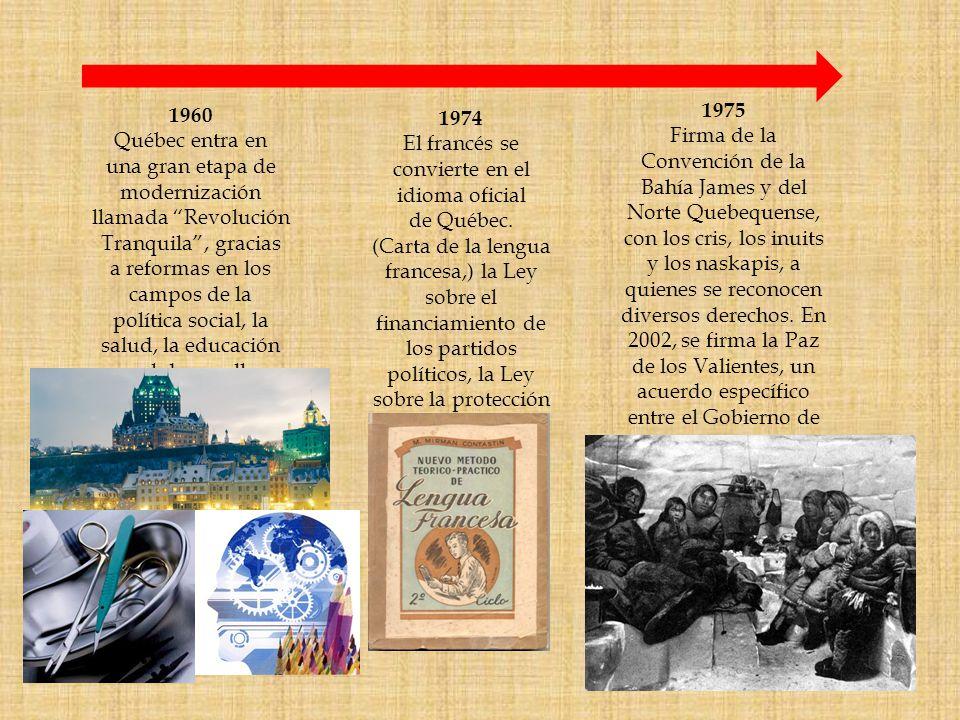 1960 Québec entra en. una gran etapa de. modernización. llamada Revolución. Tranquila , gracias.