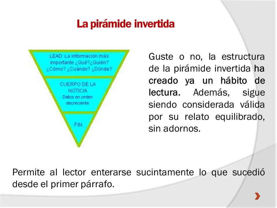 La pirámide invertida