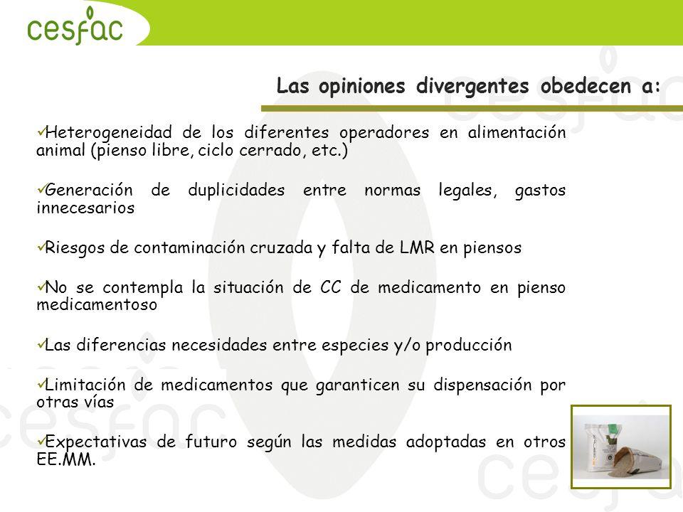 Las opiniones divergentes obedecen a: